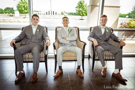 Groomsmen at Springfield Wedding