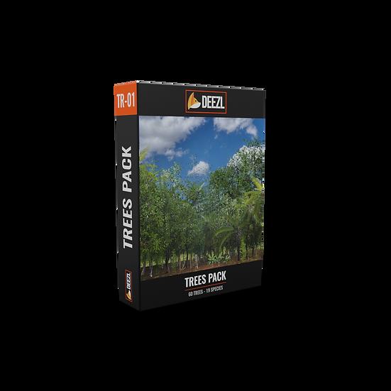 Trees Pack FBX, OBJ