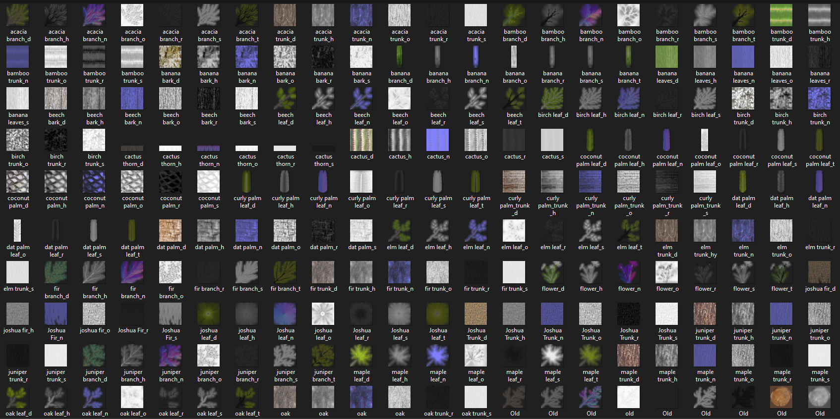 Trees Pack Textures Preview.PNG