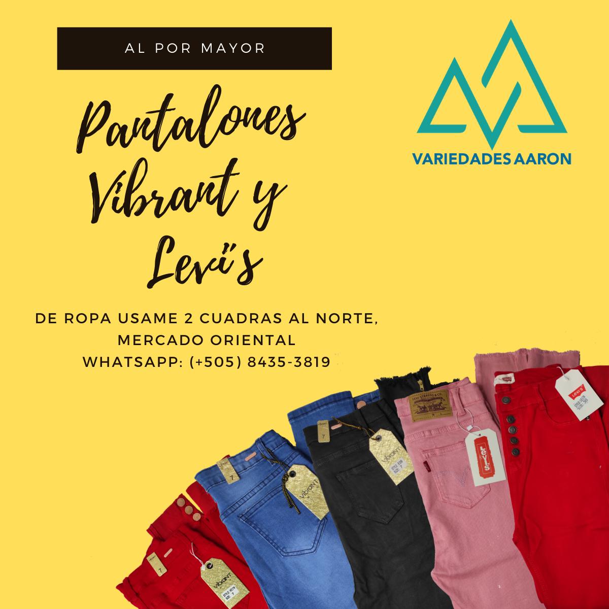 Pantalones Vibrant Y Levi S Aaron Nicaragua
