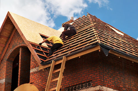 Roofing Contractors Installing House Roo
