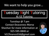 Ongoing - Tuesday Night Tutoring.jpg