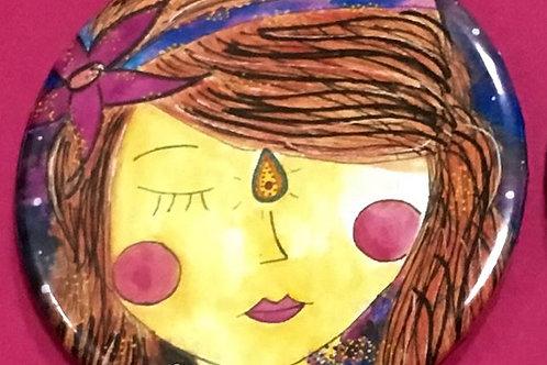 Espelhinho - Menina Meditativa das Estrelas
