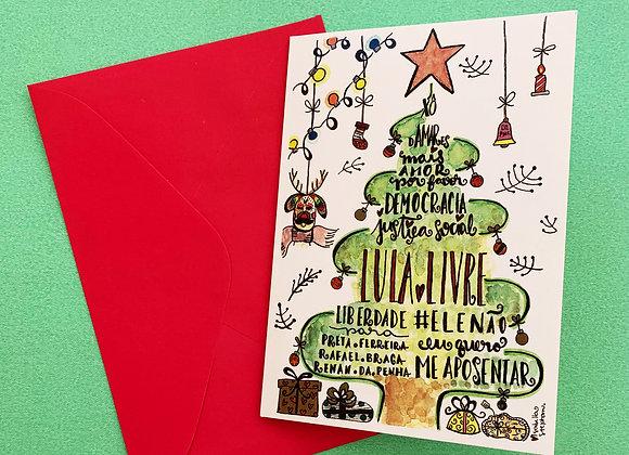 Cartão de Natal #LULALIVRE