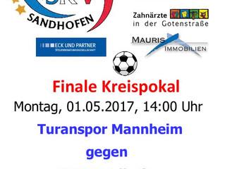 Die 1.Fußballmannschaft des SKV steht im Kreispokalfinale am 1.Mai - bitte unterstützen Sie unsere M