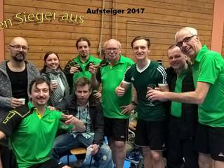 Verdienter Aufstieg der 1.Tischtennismannschaft in die Bezirksliga