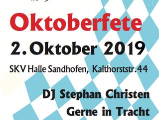 Oktoberfete 2019 - O´ Zapft is!