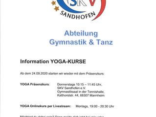 Information Yoga Kurse