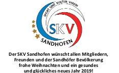 Der SKV Sandhofen wünscht frohe Weihnachten und ein glückliches neues Jahr 2019 !
