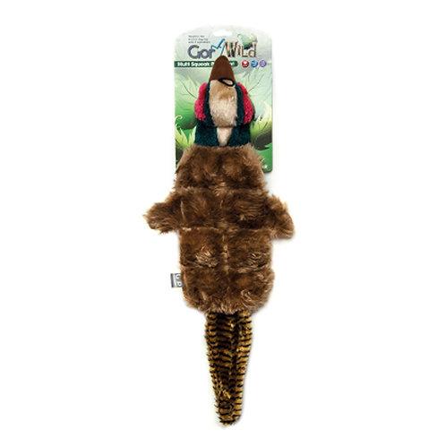 Gor Wild Multi Squak Pheasant Plush Dog Toy
