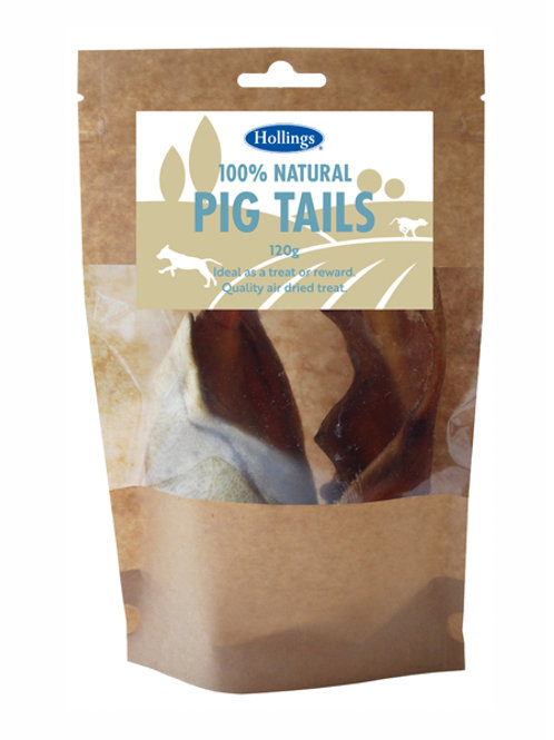 Holling's Natural Pig Tails Dog Treats
