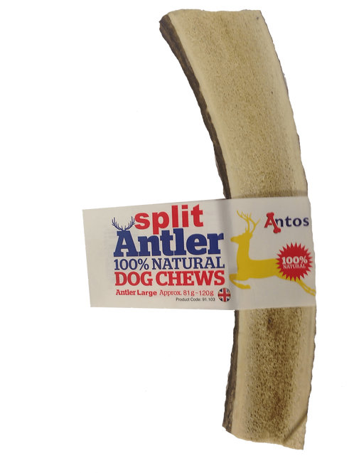 Antos Split Deer Antler Dog Chew Large