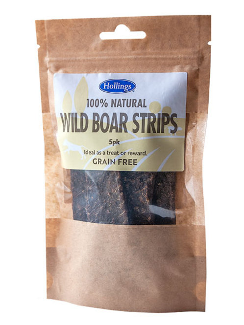 Holling's Natural Wild Boar Strips Dog treats