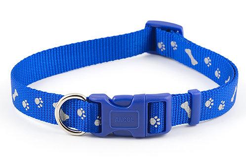 Ancol Paw & Bone Collar Blue