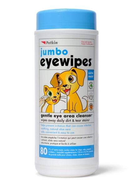 Petkin Jumbo Eye Wipes 80pk