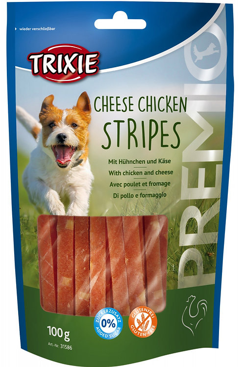 Trixie Premio Cheese Chicken Stripes Dog Treats