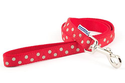 Ancol Vintage Polka Dot Lead (Red)