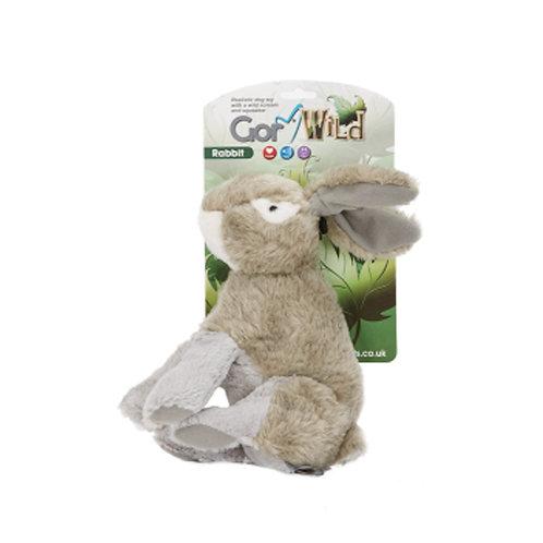 Gor Wild Rabbit Plush Squaky Dog Toy