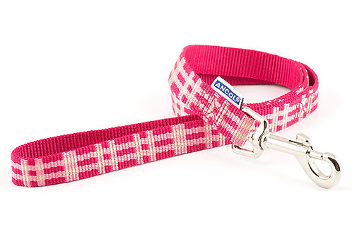 Ancol Candy Pink Check Dog Lead