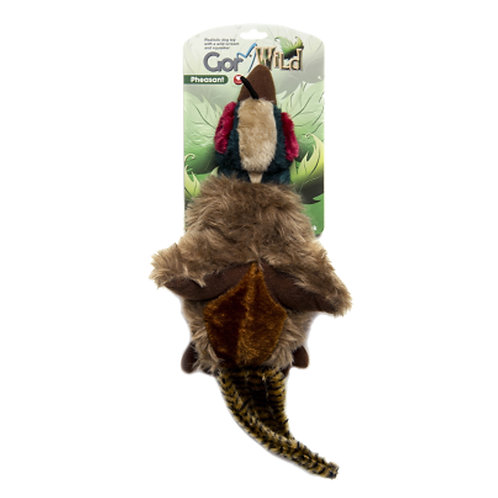 Gor Wild Multi Squeak Pheasant Plush Dog Toy