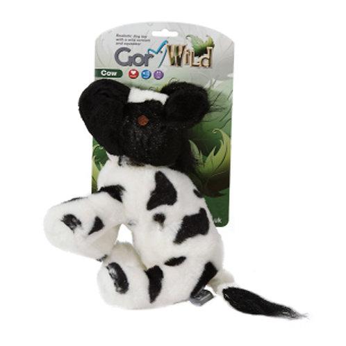 Gor Wild Cow Plush Squaky Dog Toy