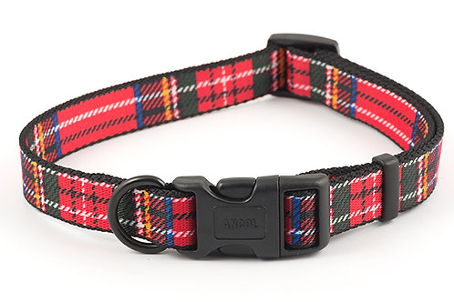 Ancol Tartan Dog Collar Red