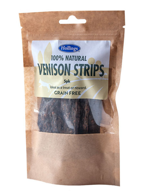 Holling's Natural Venison Strips Dog treats