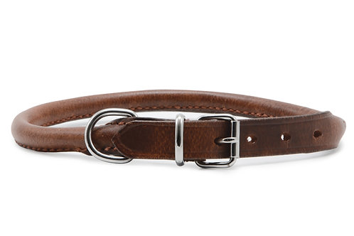 Ancol Heritage Round Leather Dog Collar