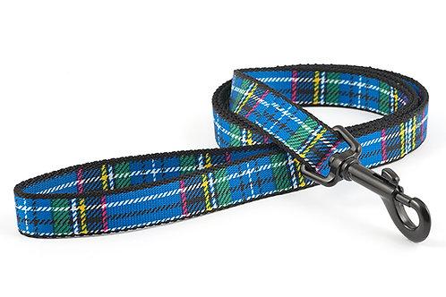Ancol Tartan Dog Lead Blue