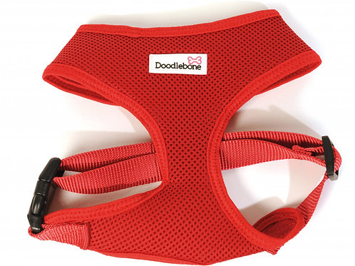 Doodlebone Airmesh Dog Harness Red