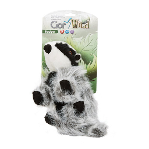 Gor Wild Squirrel Plush Squaky Dog Toy