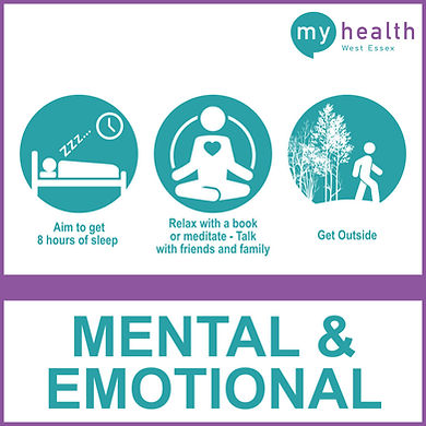 Health Triangle, Mental and Emotional Health, sleeping, meditate and get outside