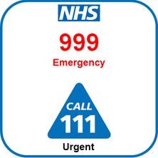 Call 999 for emergencies or 111 for urgent medical problems
