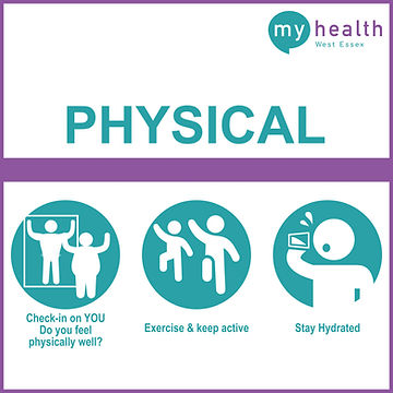 Physical Health, exercise and hydration, West Essex NHS