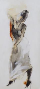 אשה בשחור לבן