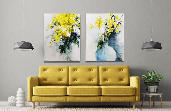 זוג פרחים צהובים sold