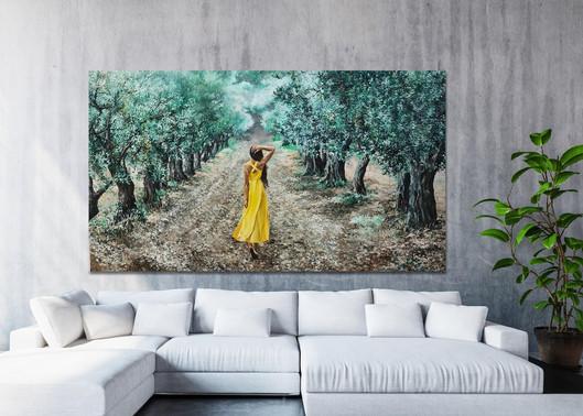 האשה בצהוב 230*120