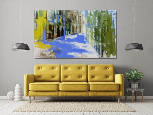 רחוב ביפו  sold ציורי אבסטרקט לסלון ולבית