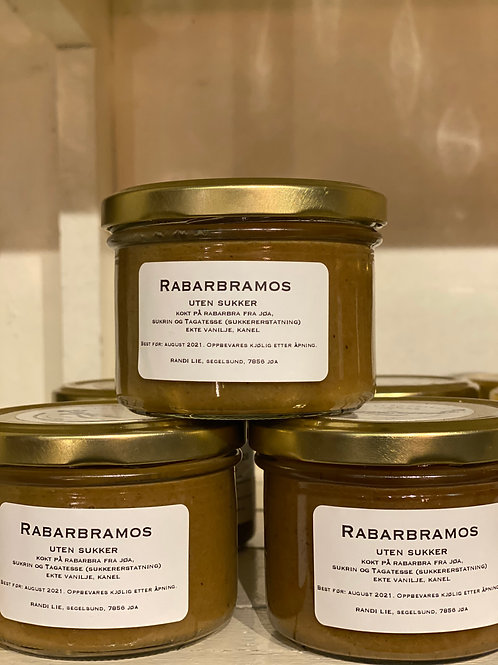 Rabarbramos (sukkerfri)