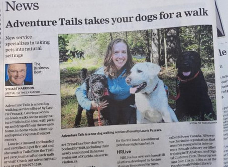 "Extra Extra!  Our ""Tail"" is in the Peterborough Examiner!"