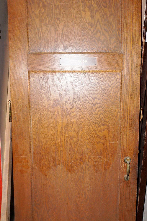2-Panel Oak Door with Hardware