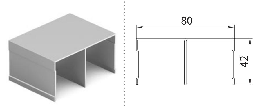 Верхняя направляющая двухполозная