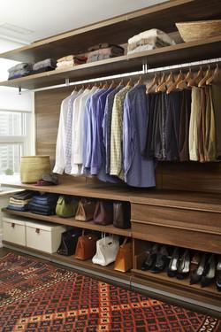 Шпонированные,деревянные гардеробные