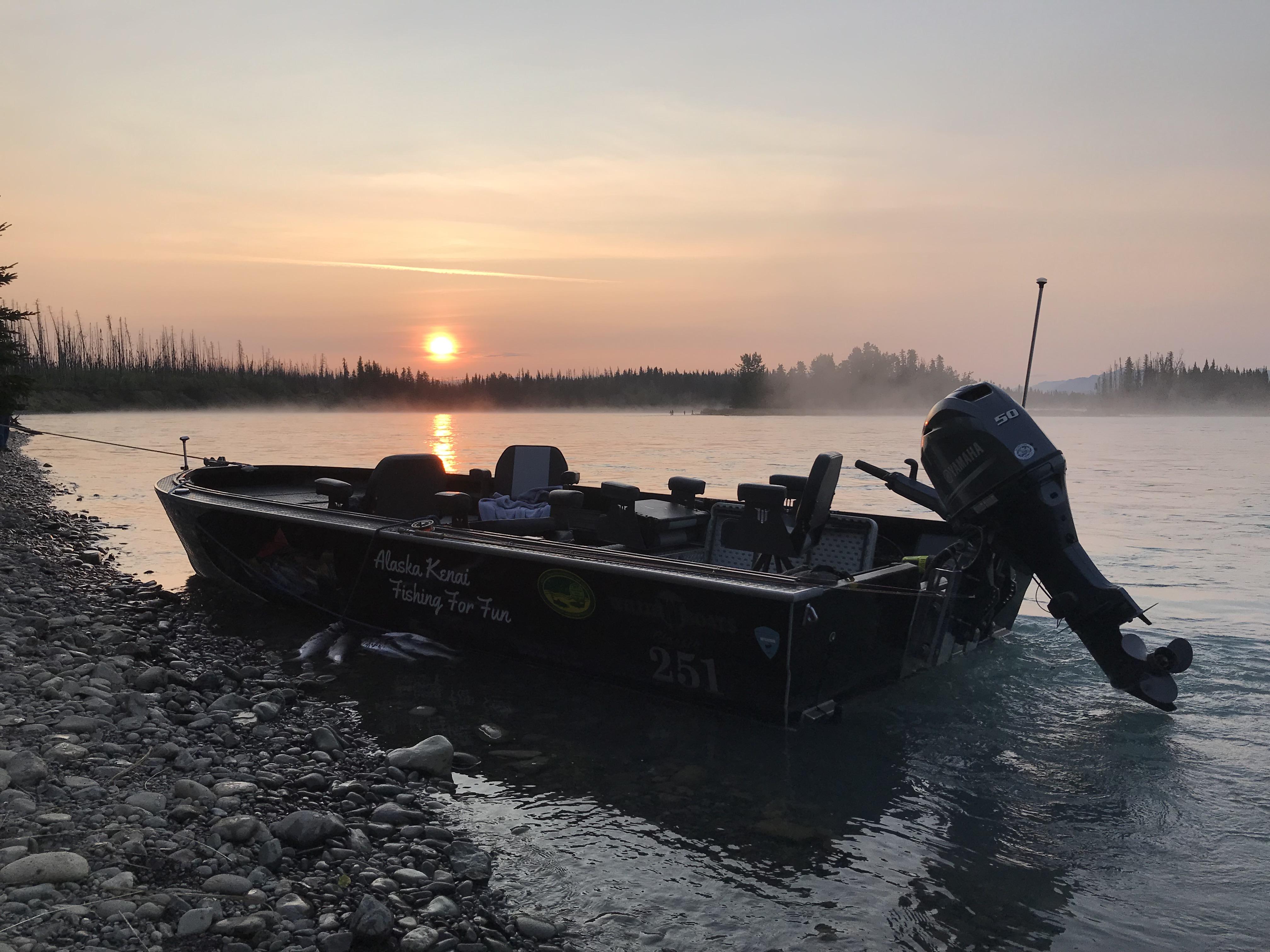 Kenai River Sunset Fishing Willie Boats