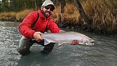 Brad Kirr Fishing Guide Kasilof River Steelhead