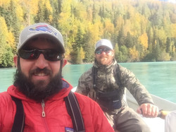 Brad Kirr and James Walker Kenai River Fishing Guides