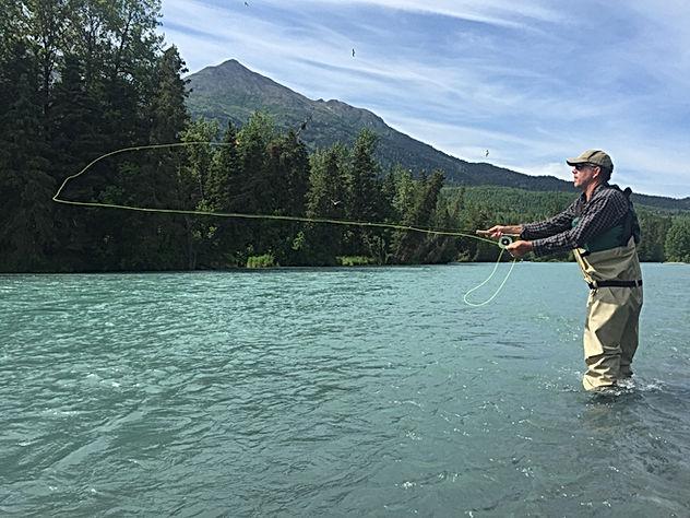 Client Upper Kenai River Flyfishing