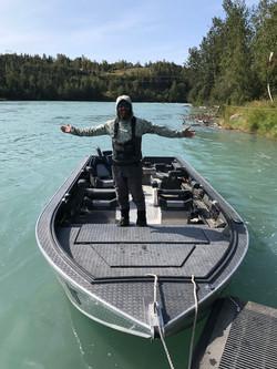 Brad Kirr Kenai River Fishing Guide Willie Boats