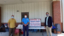 David Roberts with Sandhills Medical Foundation, Mayor, Mark Dorman, and Senator Vincent Sheheen