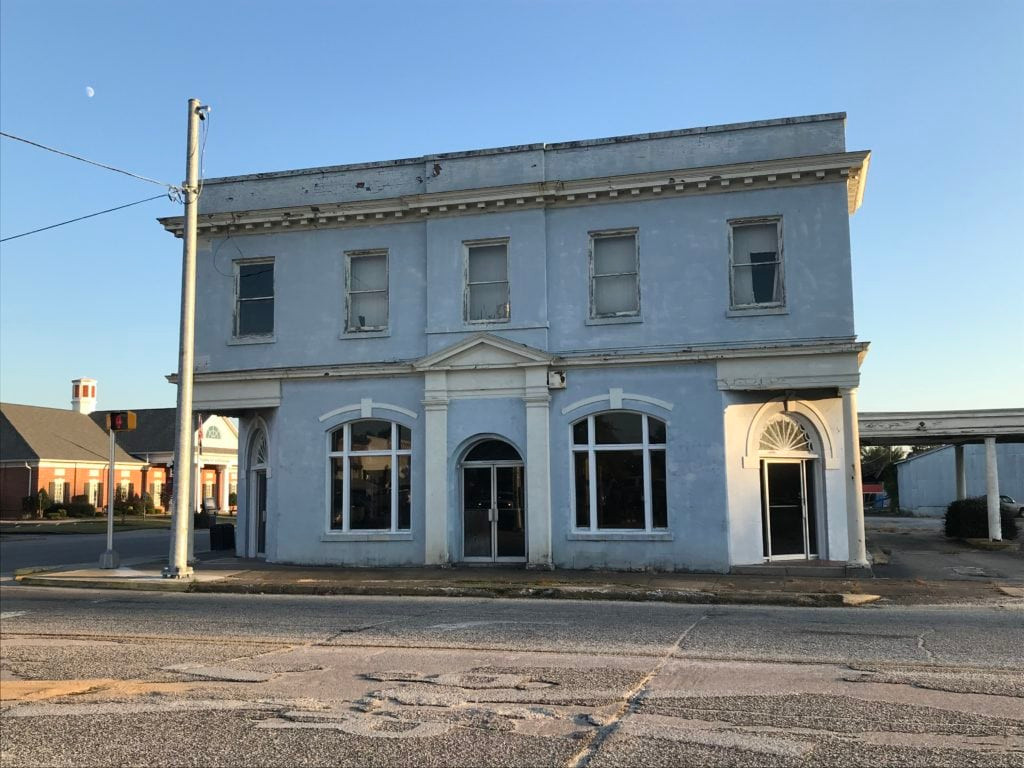 THE OLD BANK BUILDING ALSO KNOWN AS THE BANK OF KERSHAW